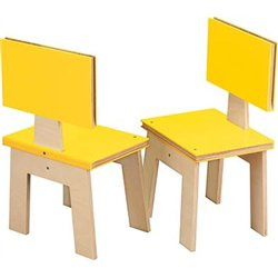 Lot 2 chaises - imitation livre