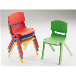 Lot 4 chaises empilables
