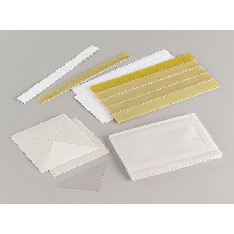 Etui adhésif en PVC cristal incolore 80 x 130 mm (Sachet de 10)