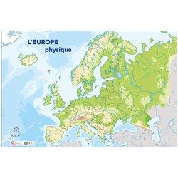 Carte muette Europe physique