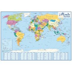Carte souple recto/verso Europe/Monde