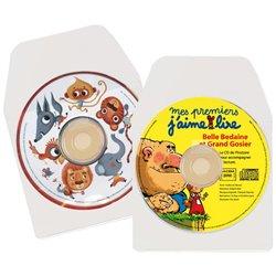 Pochette adhésive CD, DVD. (Sachet de 10)
