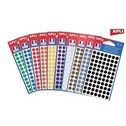 Pastille bibliothèque 10 couleurs assorties (Lot de 4697)