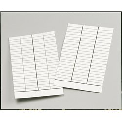 Fiche bibliothèque. de prêt, 4 colonnes 75 x 125mm (Paquet de 250)