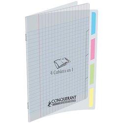 '4 cahiers en 1' couverture polypropylène 24x32 cm piqûre 140 pages seyes 90g