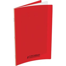 Cahier polypropylène 90 g 140 pages seyes 24x32 cm - rouge