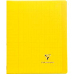 Cahier koverbook 96 pages seyes 17x22 cm - jaune