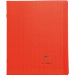 Cahier koverbook 96 pages seyes 17x22 cm - rouge
