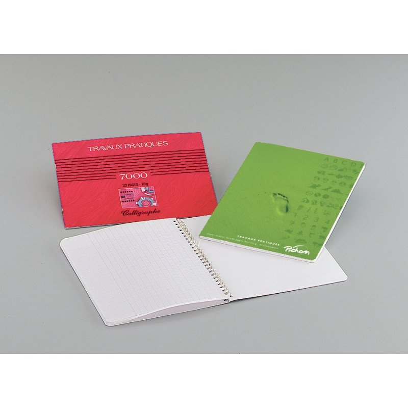 Cahier travaux pratiques reliure hélicoïdale A4 80 pages
