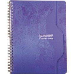 Cahier reliure hélicoïdale 17x22 cm 180 pages seyes 70g