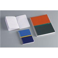 Carnet piqûre 96 pages 9x14 cm NF68 5x5 70g