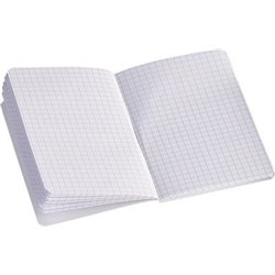 Carnet piqûre 96 pages 11x17 cm NF 70 5x5 70g