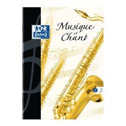 Cahier musique 17x22 cm 24 pages musique - 24 pages seyes 90g couverture pelliculée