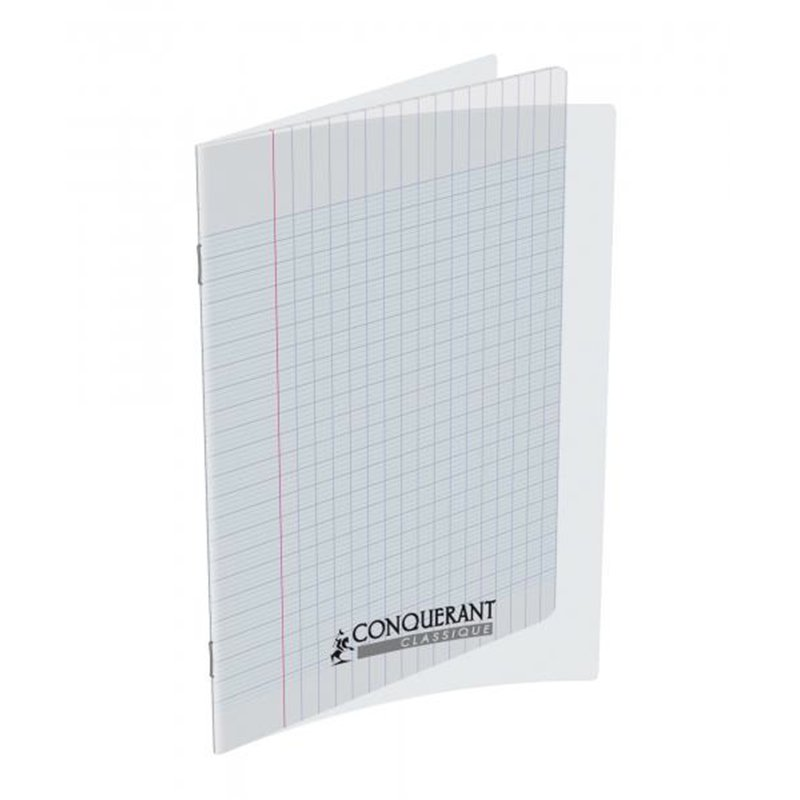 Cahier 70g 192 pages seyes 17 x 22 cm Polypropylène - Incolore