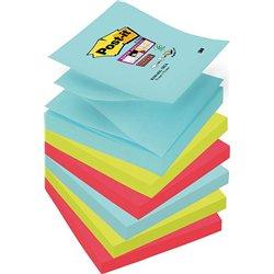 Lot 6 blocs 90 feuilles 76x76 mm couleurs assorties Z notes Super Sticky Miami