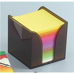 Boite plastique de papier de note 9x9 cm arc-en-ciel