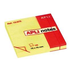 Bloc 100 feuilles de notes repositionnables 75x75mm jaune
