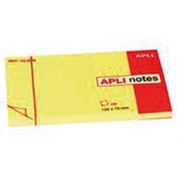 Bloc 100 feuilles de notes repositionnables 75x125mm jaune