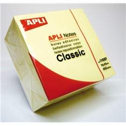 Cube 400 feuilles de notes repositionnables 75x75 mm jaune