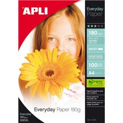 Supports pour imprimantes jet d'encre couleurs  : boite 100 feuilles A4 180g every day