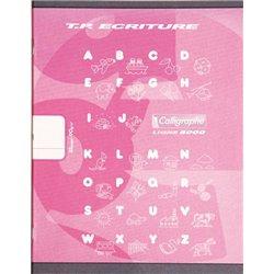 Cahier maternelle 17x22 cm 32 pages 90g 1 feuille unie, 1 feuille lignée 5mm