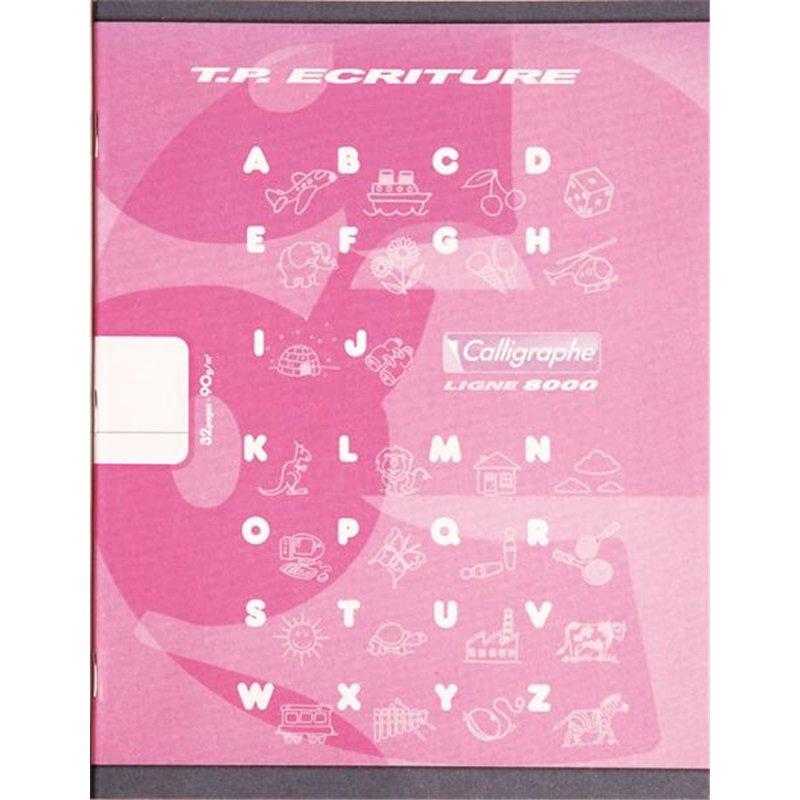 Cahier maternelle 17x22 cm 32 pages 90g 1 feuille unie, 1 feuille lignée 18mm