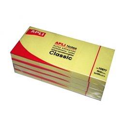 Bloc 100 feuilles de notes repositionnables 40x50 mm jaune (Lot de 12)