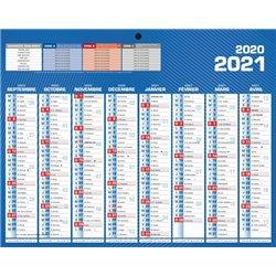 Mini calendrier recto verso 21x26.5 cm