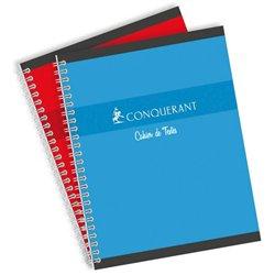 Cahier de texte hélicoïdale couleur 70g 17x22 cm 124 pages seyes