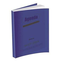 Agenda journalier couverture polypropylène piqûre 12x17 cm - 1 jour par page