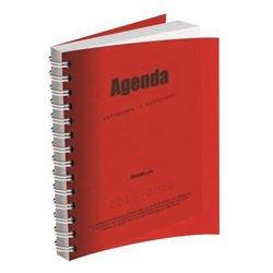 Agenda journalier couverture polypropylène hélicoïdale 12x17 cm - 1 jour par page