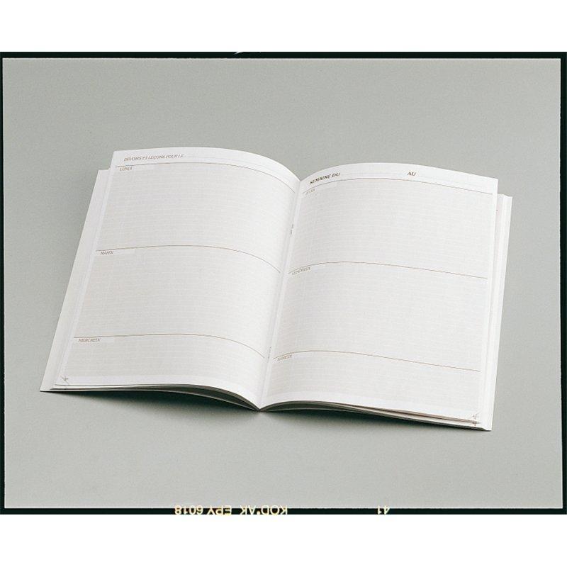 Agenda scolaire 90g 17x22 cm 80 pages semaine sur 2 pages