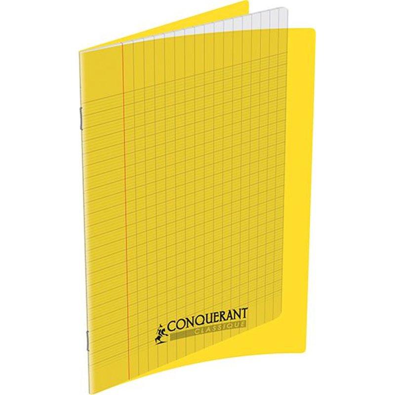 Cahier polypropylène 90g 32 pages seyes 17x22 cm  -  jaune