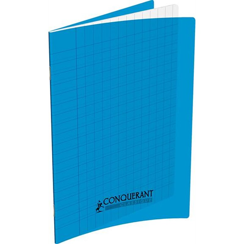 Cahier polypropylène 90g 32 pages seyes 17x22 cm  -  bleu