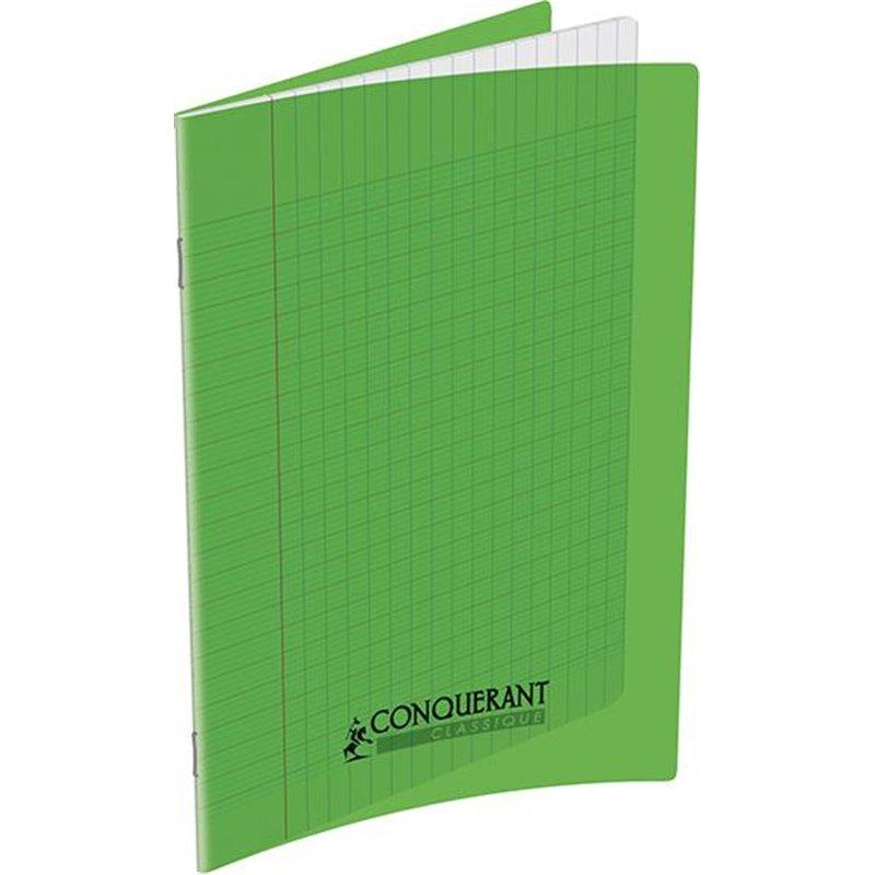 Cahier polypropylène 90g 32 pages seyes 17x22 cm  -  vert