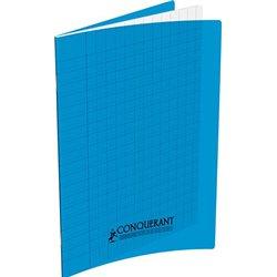 Cahier polypropylène 90g 48 pages seyes 17x22 cm  -  bleu