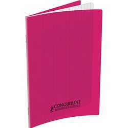 Cahier polypropylène 90g 96 pages seyes 17x22 cm - rose