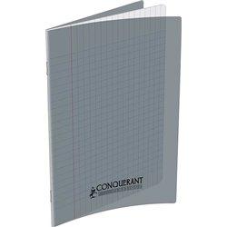 Cahier polypropylène 90g 96 pages seyes 17x22 cm - gris