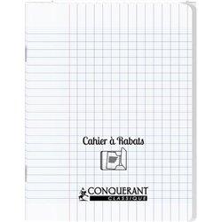 Cahier avec rabats 48 pages Seyes 24x32 cm - Polypropylène incolore