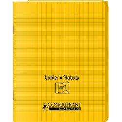 Cahier avec rabats 48 pages Seyes 24x32 cm - Polypropylène jaune