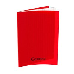 Cahier 96 pages Seyes 17x22 cm 80G - Polypropylène rouge