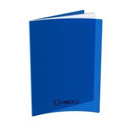 Cahier 96 pages Seyes 17x22 cm 80G - Polypropylène bleu