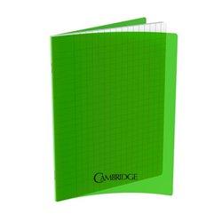 Cahier 96 pages Seyes 17x22 cm 80G - Polypropylène vert