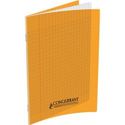 Cahier polypropylène 90g 60 pages seyes 17x22 cm - orange