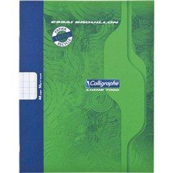 Cahier brouillon gamme écologique 56g 48 pages seyes 17x22 cm