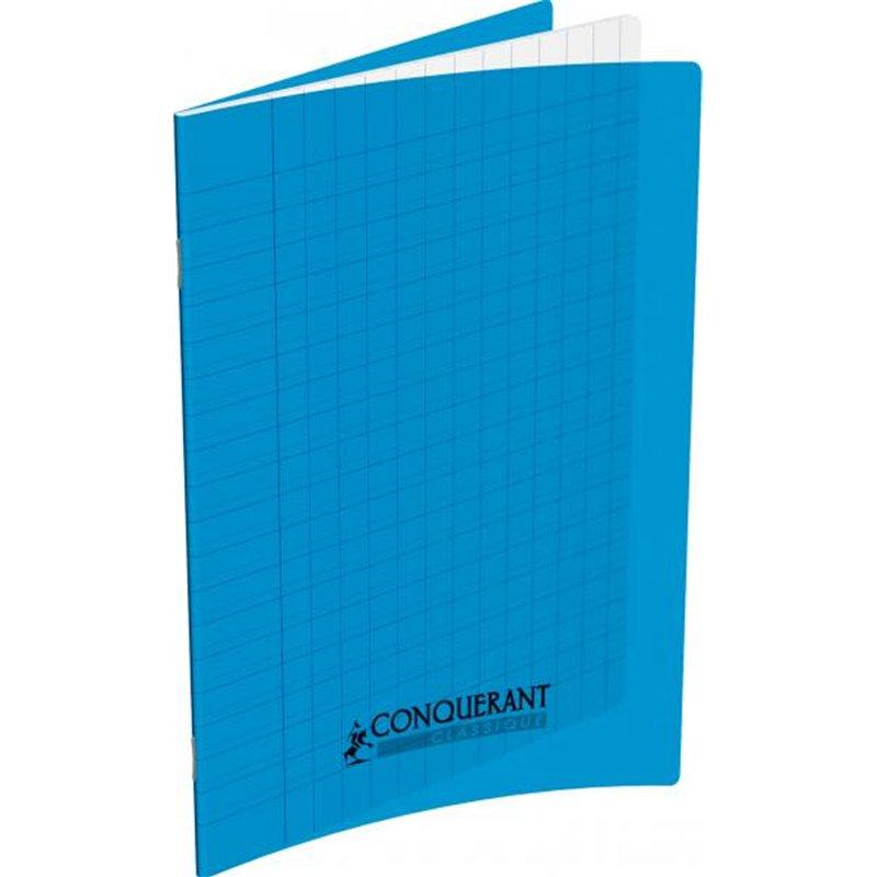 Cahier d'écriture polypropylène 90g 32 pages 17x22 cm réglure spéciale double ligne 3 mm bleu