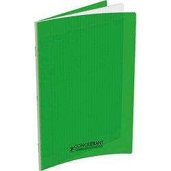 Cahier d'écriture polypropylène 90g 32 pages 17x22 cm réglure spéciale seyes 12x12 interlignes 3mm vert