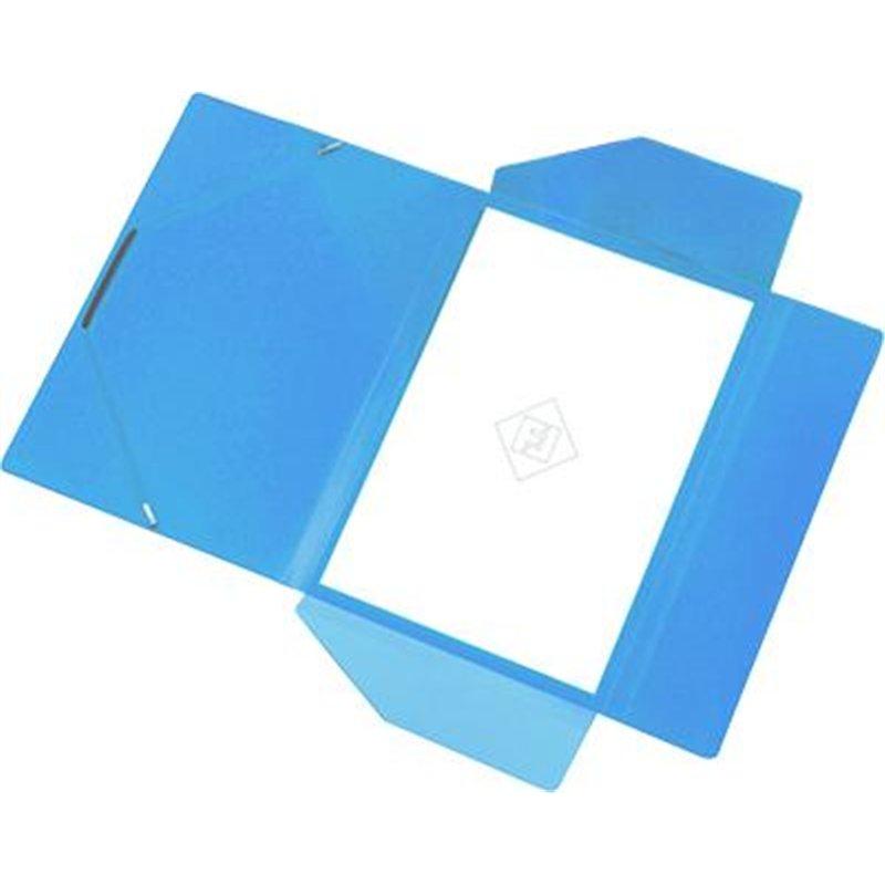 Chemise polypropylène élastique et rabats A4 épaisseur 4/10e - Bleu