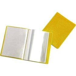 Reliure plastique 20 volets transparents - Jaune