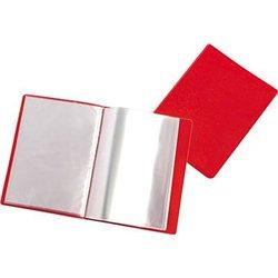 Reliure plastique 20 volets transparents - Rouge